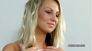 Teenager beauty Christina takes some beef whistle in her youthfull cooter