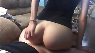 Flawless Teenager's Rump Juggles on a Ample Spunk-pump