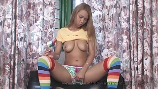 Pacinos Adventures - Tania Panache toying with her latina slit