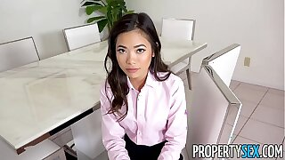 PropertySex - Super-steamy puny Japanese real estate agent romps say no to chief