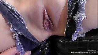 Spectacular Asian schoolgirl gets her provocative honeypot creampied