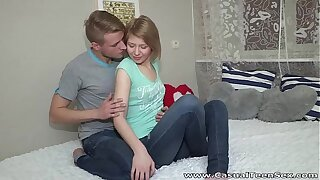 Casual Nubile Fuck-fest - Micro Katya surprises with excellent pulverize