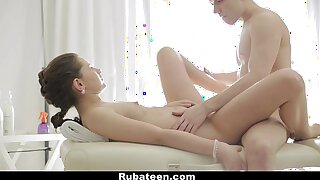 RubATeen - European Teenager Gets A Assets And Slit Rub-down