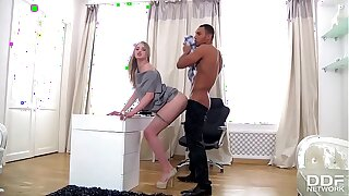 Tall Russian Nubile luxury Assistant gets Blacked by her Chief