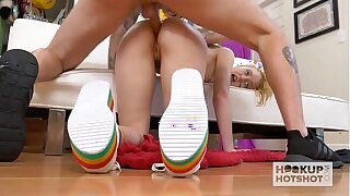 Nice Chloe Virgin gets her bootie humped raunchy by online lovemaking