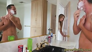 Having it away my red-hot StepDaughter in get under one's Douche while Mother is having a Bathroom