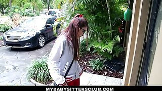 MyBabySittersClub - Diminutive Baby sitter Banged By The Insane Manager
