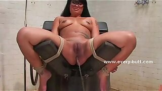 Asian girl gets fucked with a bauble