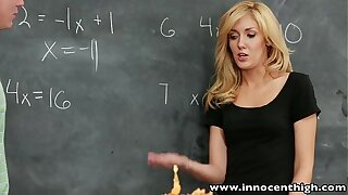 InnocentHigh Sexy blonde schoolgirl banged in rub-down the classroom