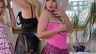 High Heels Short School Girl and Business Lady Skirts Party