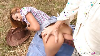 Rough Outdoor Anal for Ginger Girl by Milky Monster Cock Guy