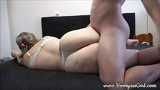 Young pawg very first gets to fuck her pussy and then also her tight bootie