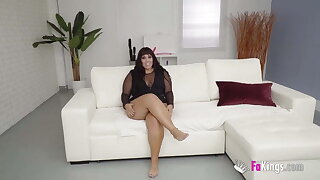 BBW Vicky is starved for sex! She devours a immense black cock