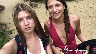 Gina Gerson and Talia Mint love sexy vacation time